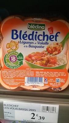 Blédichef - Légumes et volaille à la Basquaise - Product - fr
