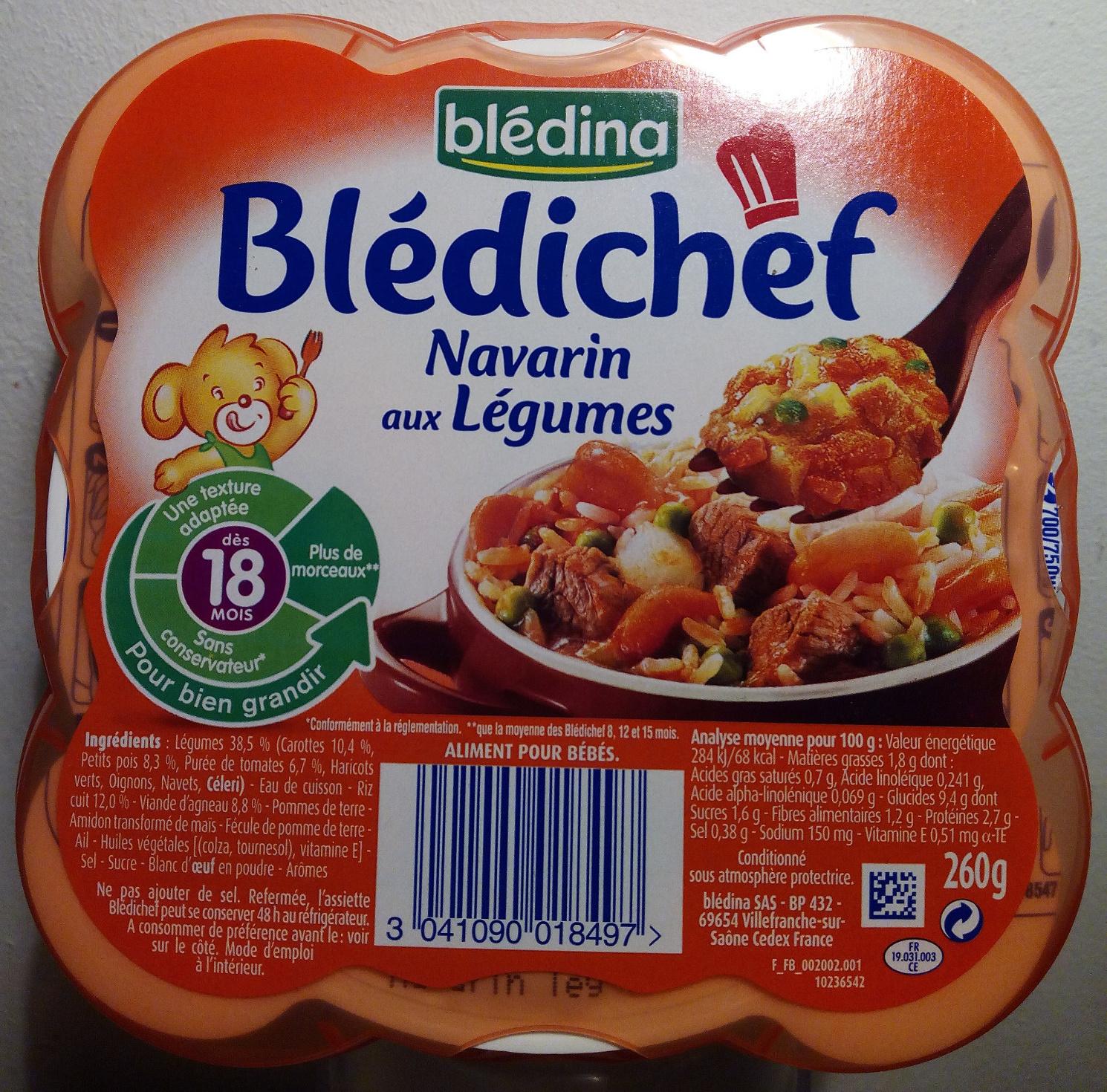 Blédichef Navarin aux Légumes - Produit - fr