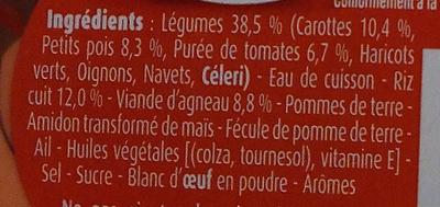 Blédichef Navarin aux Légumes - Ingrédients - fr