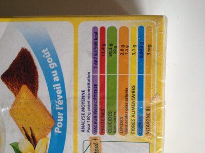Blédine Éveil Saveur Biscuitée - Informations nutritionnelles