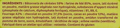 Les Petits Grands - Croc' Choco - Ingrediënten - fr