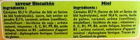 Blédine dosettes miel / saveur biscuitée - Ingrédients