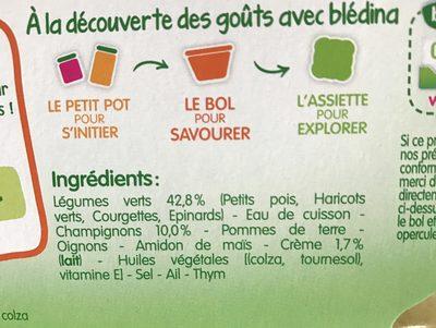 Légumes à la provençale poulet - Ingredients