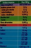 Les Mini Lactés Croissance Nature Sucré - Voedingswaarden - fr