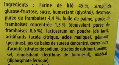 Cracotte Framboise - Ingrédients