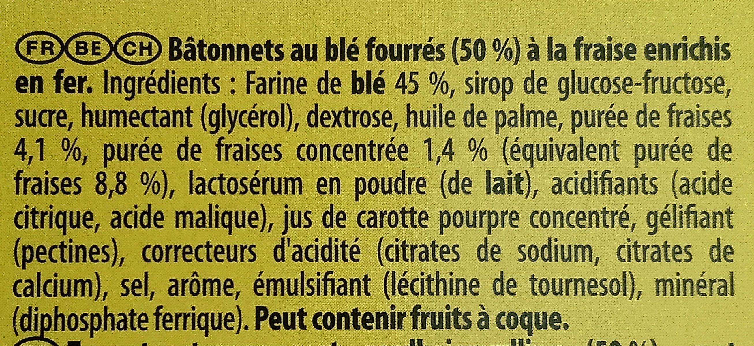 Cracotte Fraise - Ingrediënten