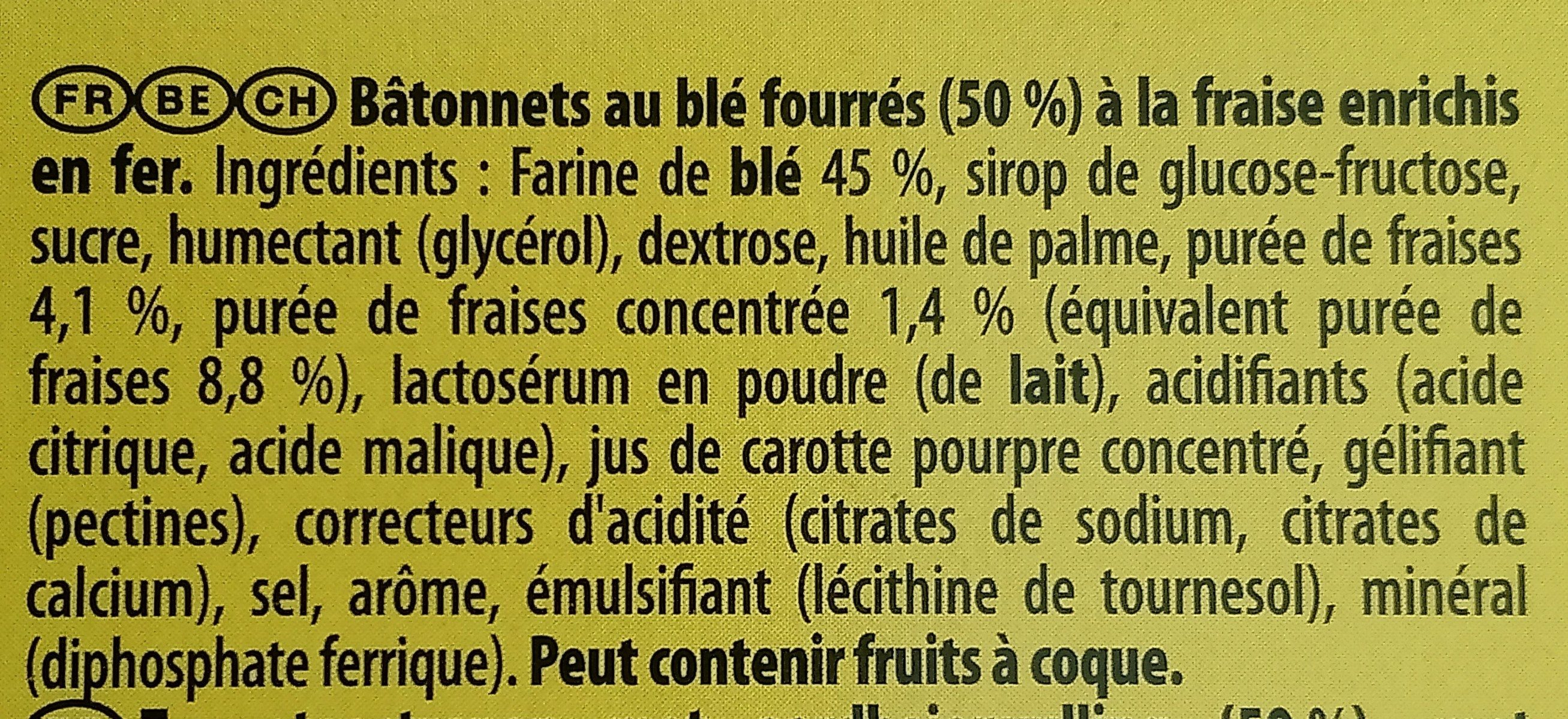 Cracotte Fraise - Ingrédients - fr