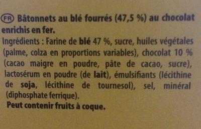 Cracotte au chocolat - Ingrédients - fr