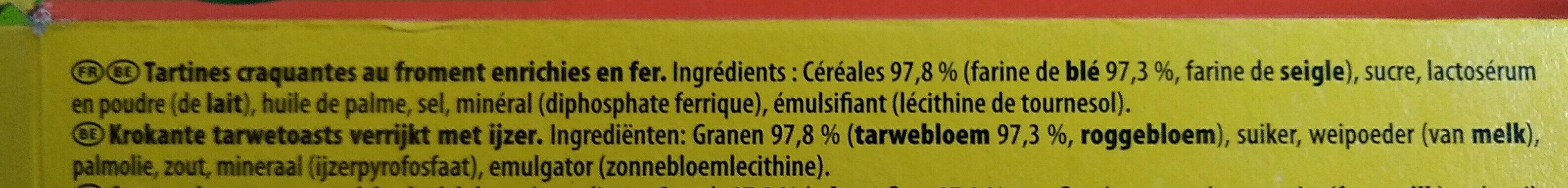 Cracotte - Ingrediënten