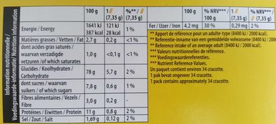 Cracotte - Nutrition facts - fr