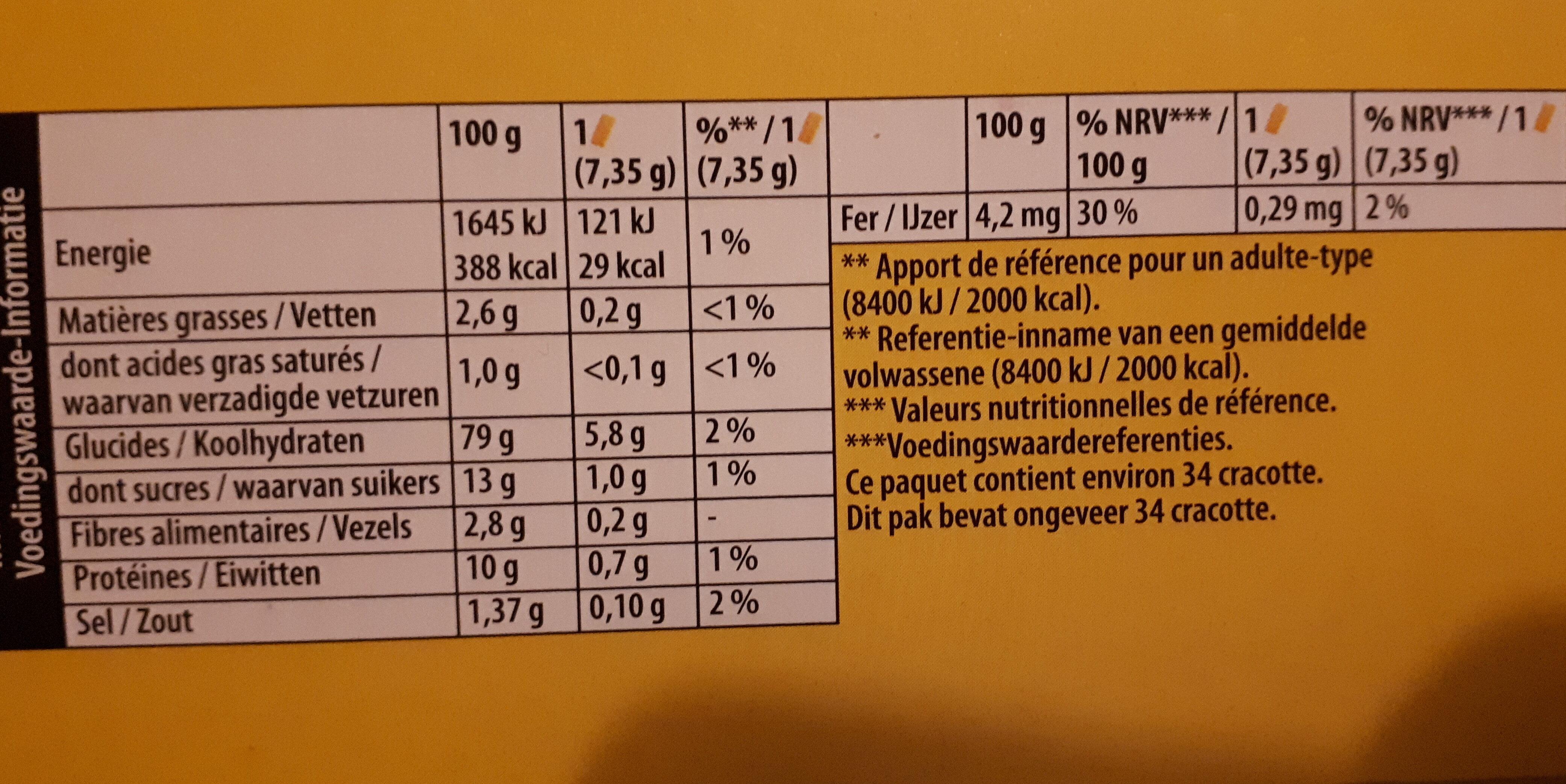 Cracotte gourmande - Ingrediënten