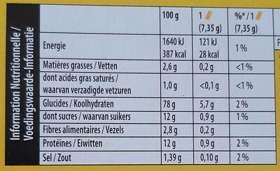Cracotte Gourmande - Voedingswaarden - fr