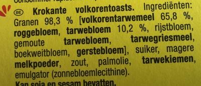 Cracotte Céréales Complètes - Ingredients