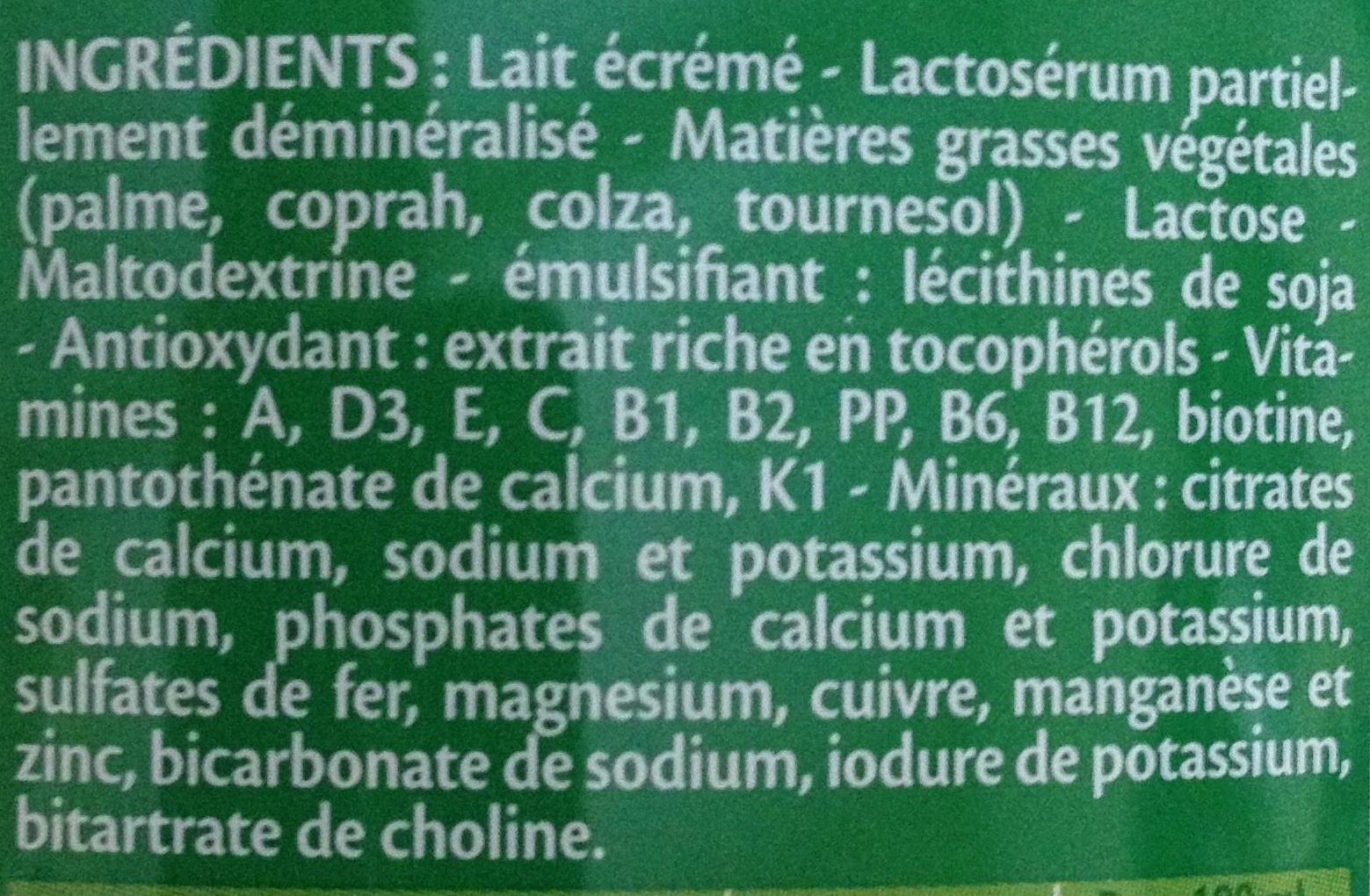 Blédilait croissance - Ingrediënten - fr