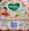 bledina riz poulet petits pois - Product