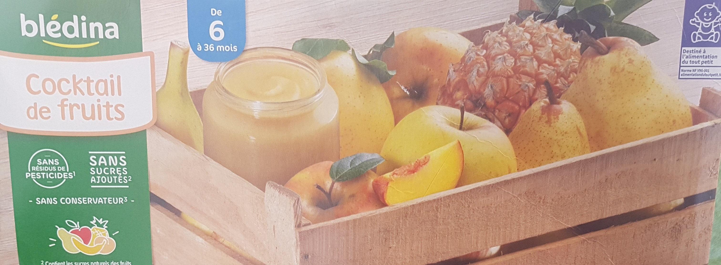 BLEDINA POTS FRUITS Cocktail de Fruits 8x130g Dès 6 Mois - Producto - fr