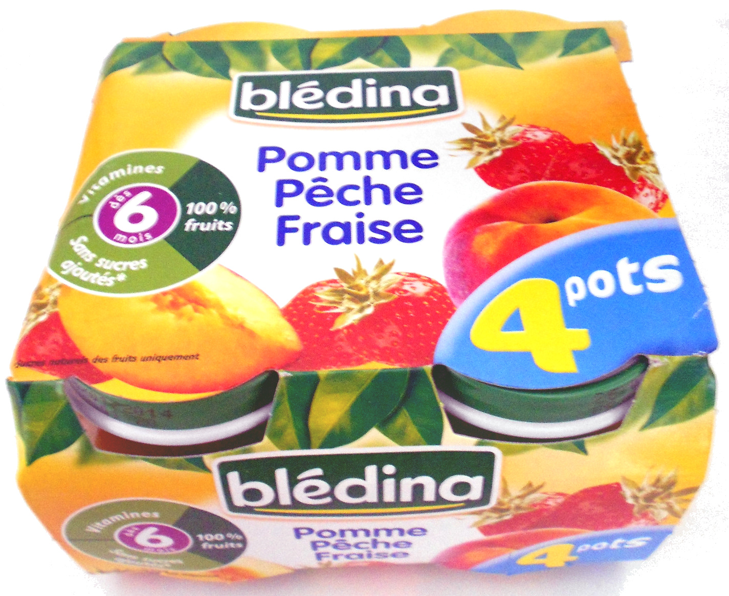Compote pomme pêche fraise - Product