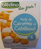 Blédina du jour - Purée de carottes et Cabillaud -