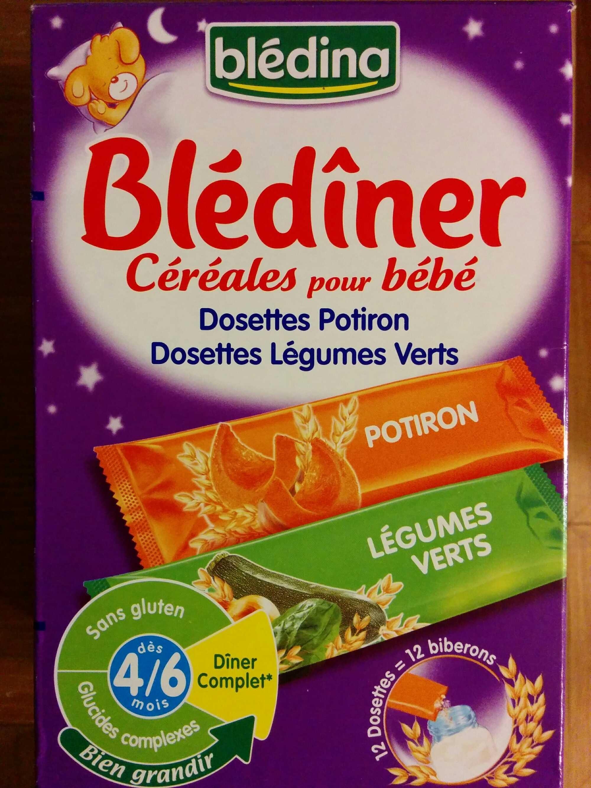 bl d ner c r ales pour b b dosettes potiron dosettes l gumes verts bl dina 12 dosettes. Black Bedroom Furniture Sets. Home Design Ideas