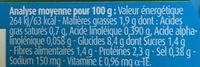 Blédichef Mijoté de Légumes Cabillaud et Crème - Información nutricional
