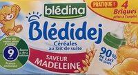 BLEDINA BLEDIDEJ Saveur Madeleine 4x250ml Dès 9 Mois - Prodotto - fr