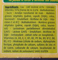 BLEDIDEJ 4x250 ml Céréales Dès 4/6 mois - Ingredients - fr