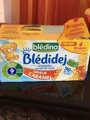 Blédidej céréales au lait de suite saveur caramel - Produit - fr