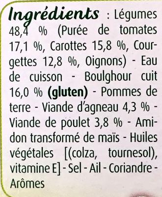 Blédichef Couscous des tout petits - Ingrédients - fr