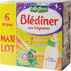 BLEDINA BLEDINER BRIQUES MAXI LOT 6x250ml 4 Carottes / 2 Epinards Dès 6 mois - Product