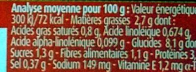 Blédichef Petites Pâtes et Bœuf façon Bourguignon - Informations nutritionnelles