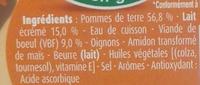 Blédichef - Hachis parmentier - Ingrédients - fr