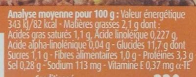 Blédichef - Hachis parmentier - Informations nutritionnelles - fr