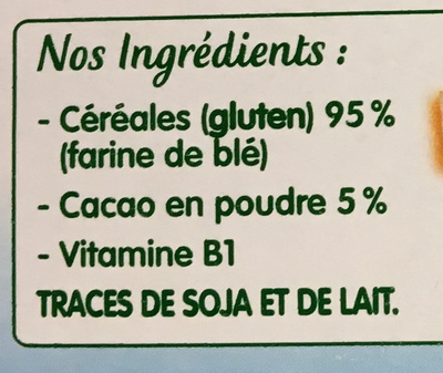 Ma 1ère Blédine Touche de Cacao - Ingredienti - fr