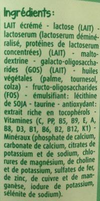 Bledilait croissance + - Ingredients