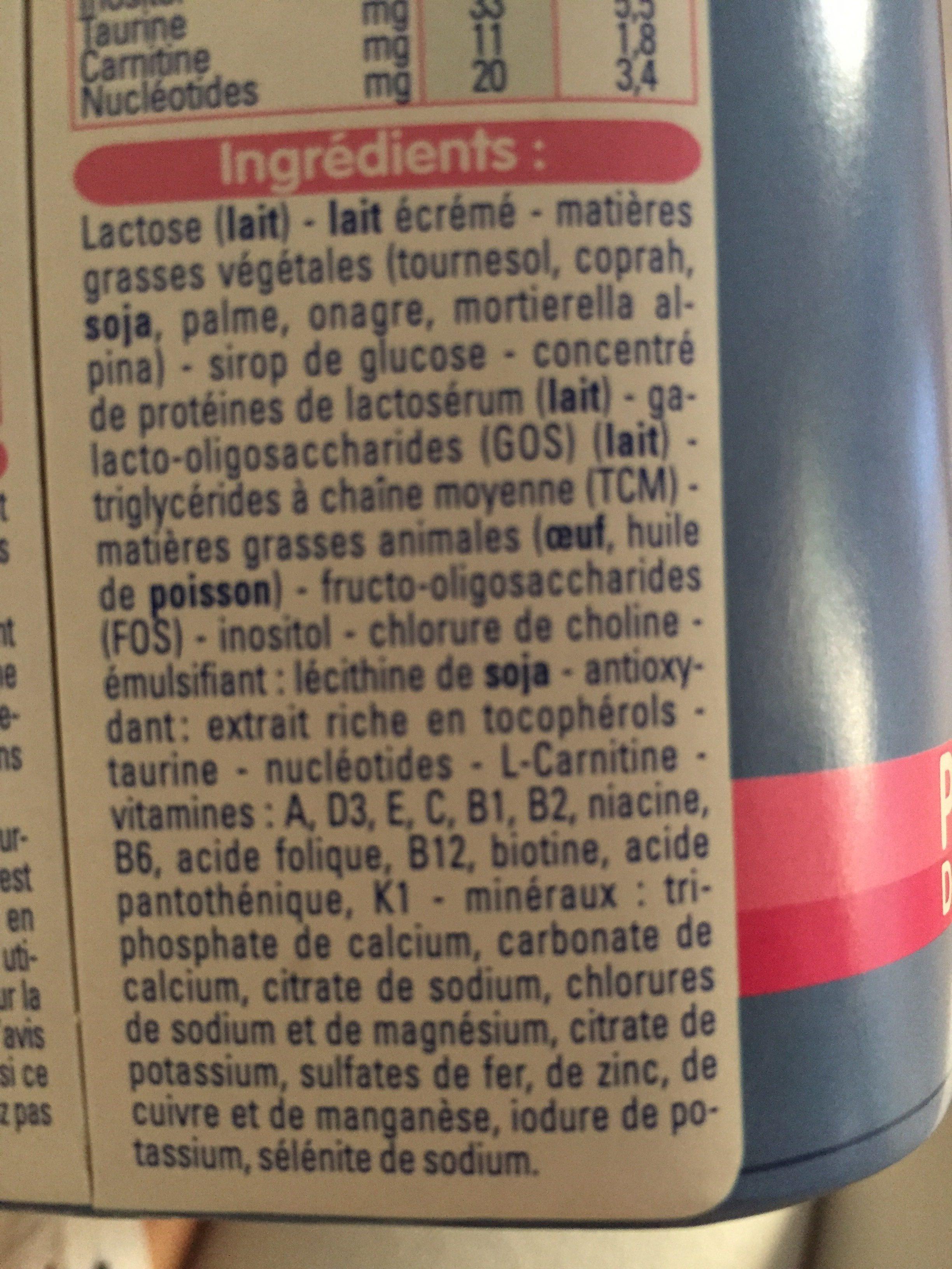 Gallia Pre Gallia Lait En Poudre - Ingrédients - fr