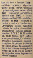 Gallia Calisma 2 Relais 2ème âge De 6 à 12 Mois - Ingrédients
