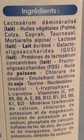 Calisma - Ingrédients - fr
