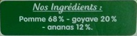 Pomme Goyave Ananas - Ingrediënten