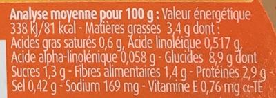 Blédichef - Aliment pour bébés - Informations nutritionnelles - fr