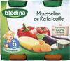 BLEDINA POTS SALES Mousseline de Ratatouille 2x200g Dès 6 Mois - Producto