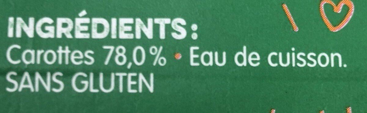 Mon 1 er petit pot carottes - Ingrediënten
