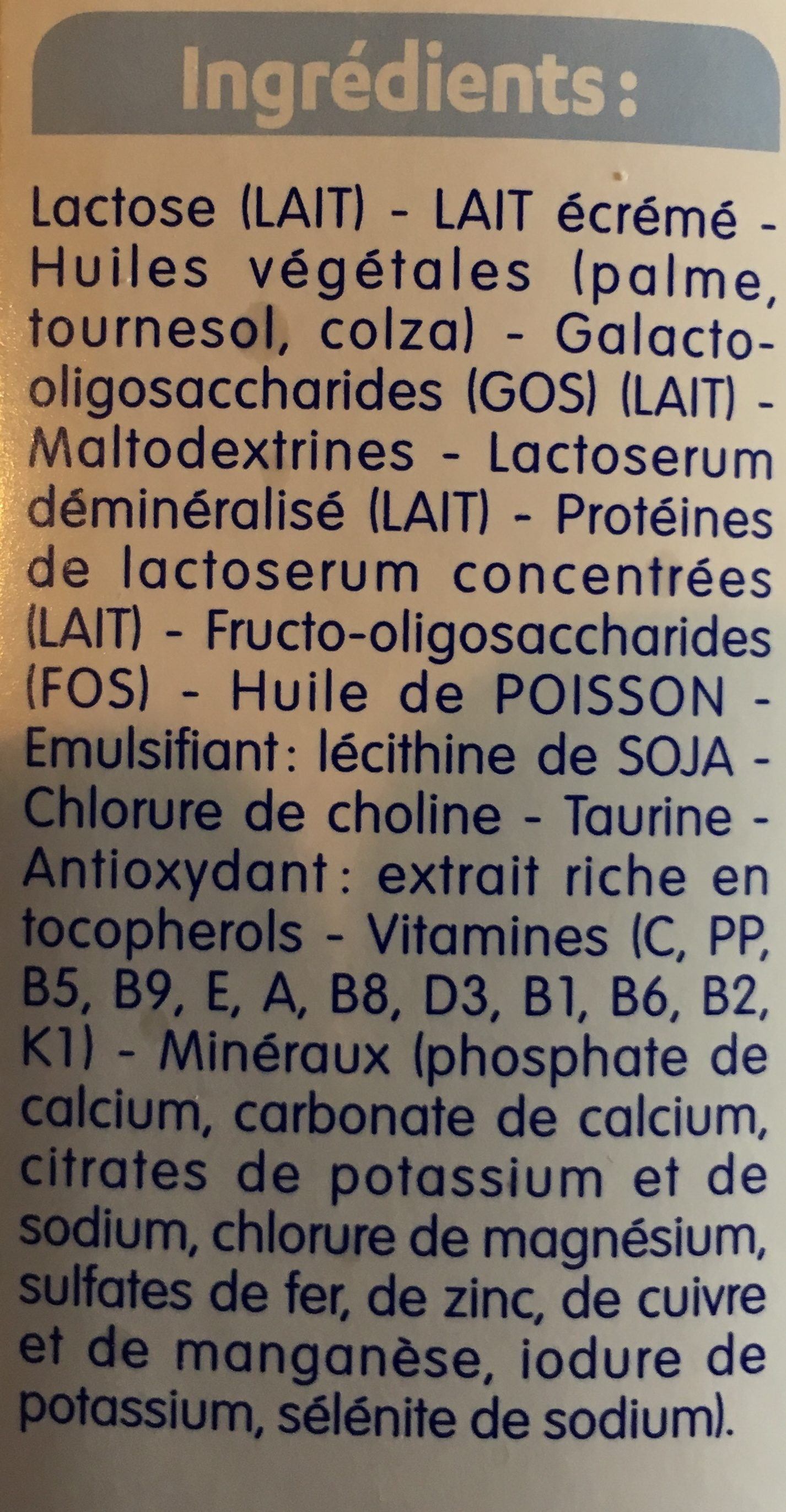 Calisma croissance - Ingredients