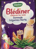 Blédiner céréale du soir - légumes verts - Prodotto - fr