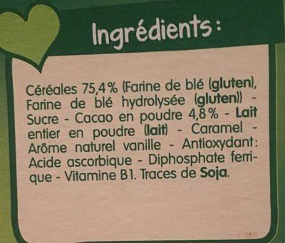 Bledine croissance choco biscuite - Ingredienti - fr