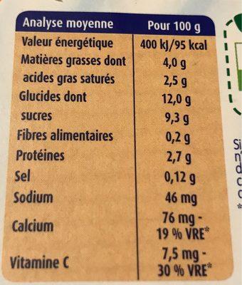 Mini lactés - Voedingswaarden - fr