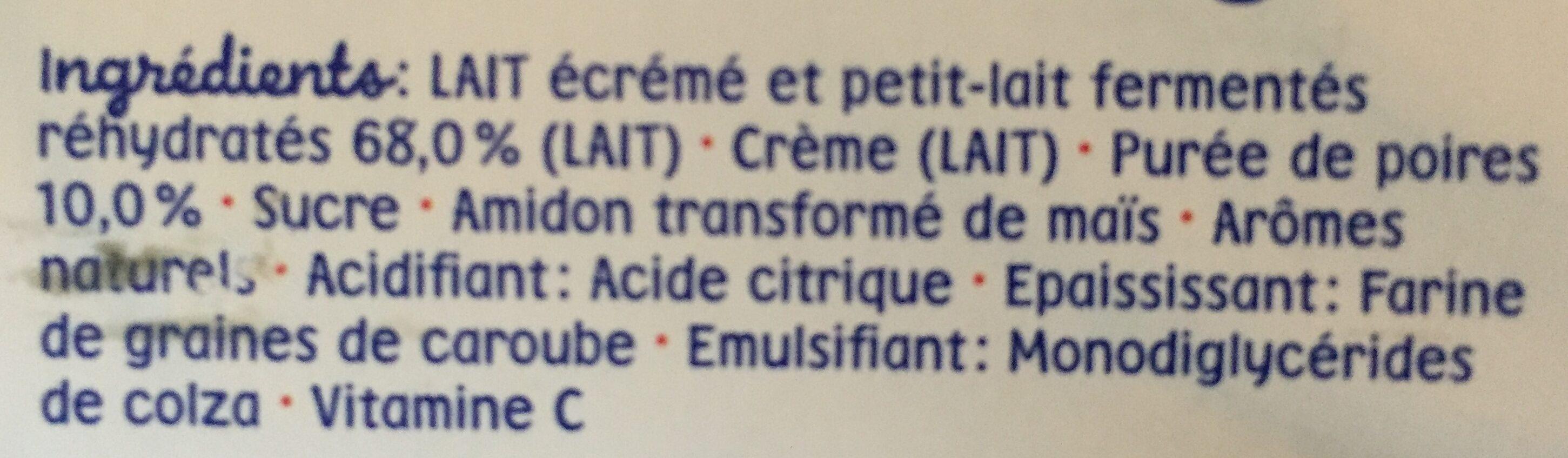 Desserts bébé de 6 à 36 mois poire Blédina - Ingrediënten