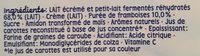 Blédina Mini lactés 6x55g Framboise dès 6 mois - Ingrediënten - fr