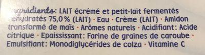 Mini lactés nature - Ingrédients