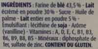 Bledine - Ingrédients - fr