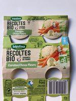 Les recoltes bio carottes choux-fleurs - Produit